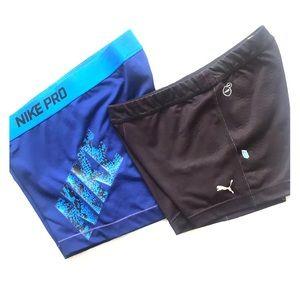 Nike and Puma Spandex bundle